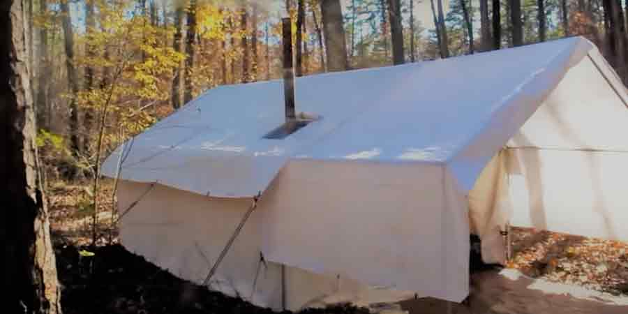 White Duck Canvas Wall Tent